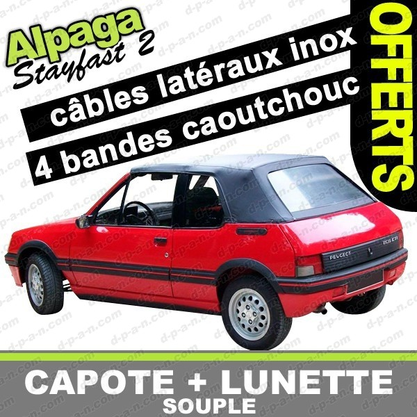 capote peugeot 205 cabriolet en alpaga stayfast 205 cj. Black Bedroom Furniture Sets. Home Design Ideas