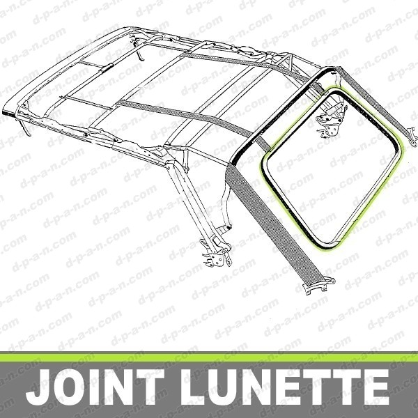 joint de lunette arriere pour capote de volkswagen golf 1. Black Bedroom Furniture Sets. Home Design Ideas