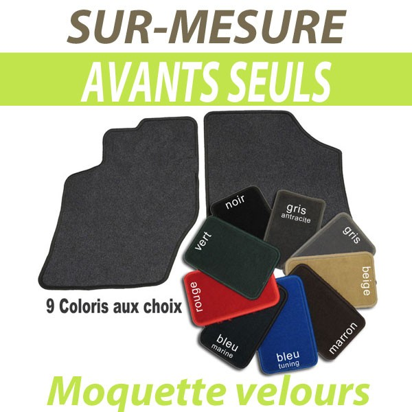 tapis auto sur mesure voiture peugeot 407 coupe tapis avants en moquette velours. Black Bedroom Furniture Sets. Home Design Ideas