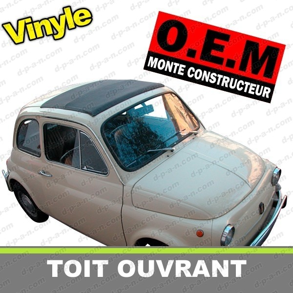 capote toit ouvrant fiat 500 f l r en vinyle. Black Bedroom Furniture Sets. Home Design Ideas