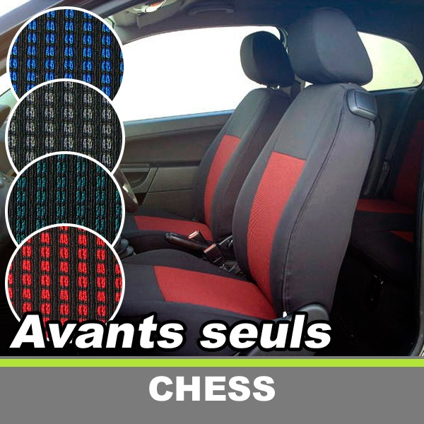 housses de sieges auto avants sur mesure pour peugeot 206 cc coupe cabriolet chess. Black Bedroom Furniture Sets. Home Design Ideas