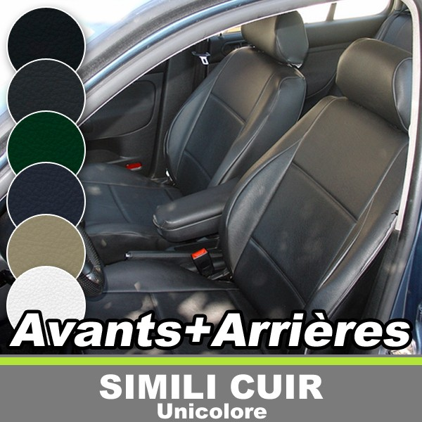 housses de sieges auto avants arrieres sur mesure pour peugeot 206 cc coupe cabriolet simili. Black Bedroom Furniture Sets. Home Design Ideas