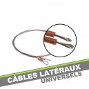Cables lateraux universels de tension en inox (la paire)