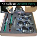 Kit collage réparation lunette verre (ventouses + colle)